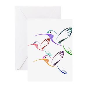 Hummingbirds greeting cards cafepress m4hsunfo