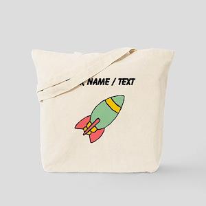 Green Cartoon Rocket (Custom) Tote Bag