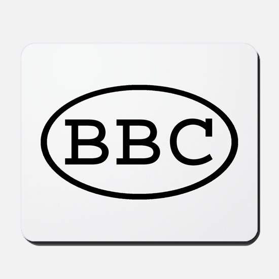 BBC Oval Mousepad