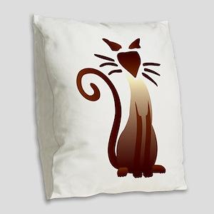 Sleek Sam Burlap Throw Pillow