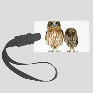 Owl Duo Large Luggage Tag