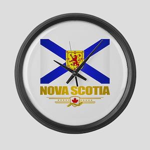 Nova Scotia Flag Large Wall Clock