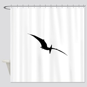 Pterodactyl Silhouette Shower Curtain