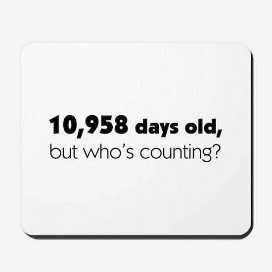 30th Birthday Mousepad