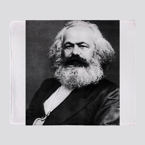 karl marx Throw Blanket