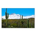 Four Peaks Snow From Desert Trail Sticker