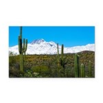 Four Peaks Snow From Desert Rectangle Car Magnet