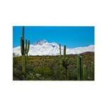 Four Peaks Snow From Desert Trail Magnets