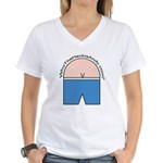 Who The Heck is Andy Logo Women's V-Neck T-Shirt