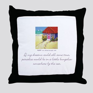 Beach Bungalow Throw Pillow