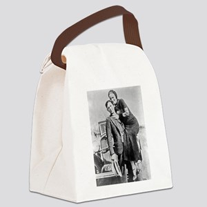 bonnie and clyde Canvas Lunch Bag