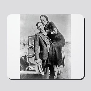 bonnie and clyde Mousepad