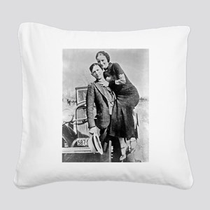 bonnie and clyde Square Canvas Pillow