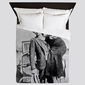 bonnie and clyde Queen Duvet