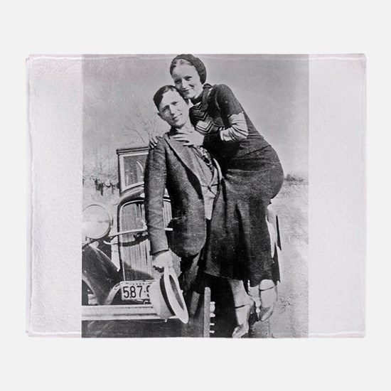 bonnie and clyde Throw Blanket