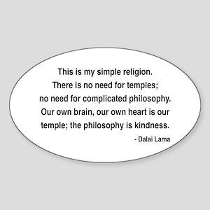 Dalai Lama 1 Oval Sticker