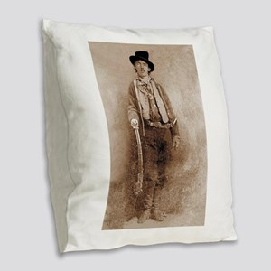 billy the kid Burlap Throw Pillow