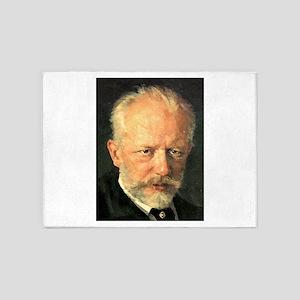 tchaikovsky 5'x7'Area Rug
