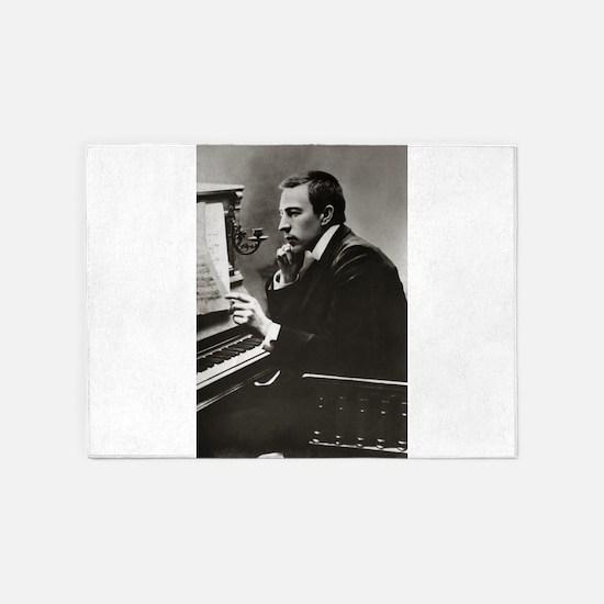 rachmaninoff 5'x7'Area Rug