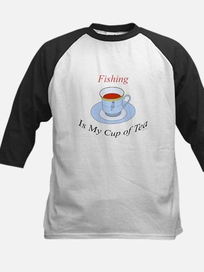 Fishing is my cup of tea Kids Baseball Jersey