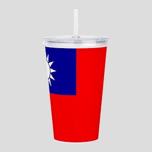 Taiwan Flag Acrylic Double-Wall Tumbler