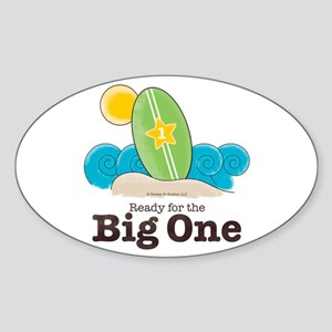 Ready For The Big One Beach Surf Sticker