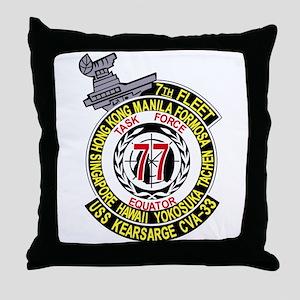 CVA-14 USS TICONDEROGA Multi-Purpose Throw Pillow