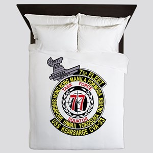 CVA-14 USS TICONDEROGA Multi-Purpose A Queen Duvet