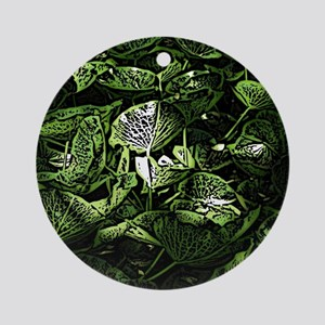 Lilypad Woodcut Ornament (Round)
