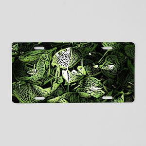 Lilypad Woodcut Aluminum License Plate