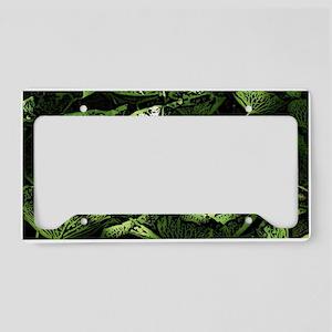 Lilypad Woodcut License Plate Holder