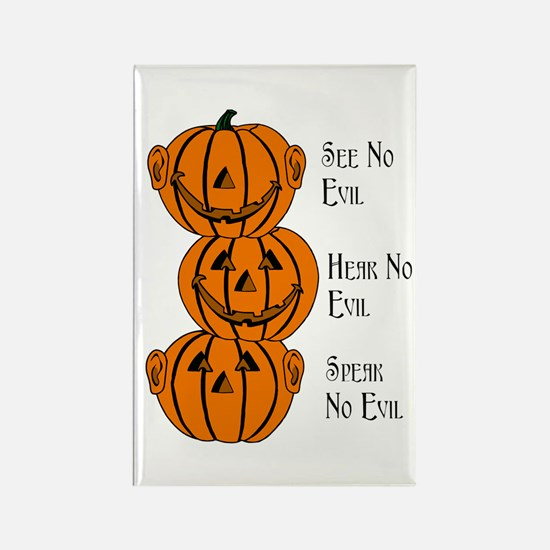 See, Hear, Speak No Evil Pumpkins Magnets