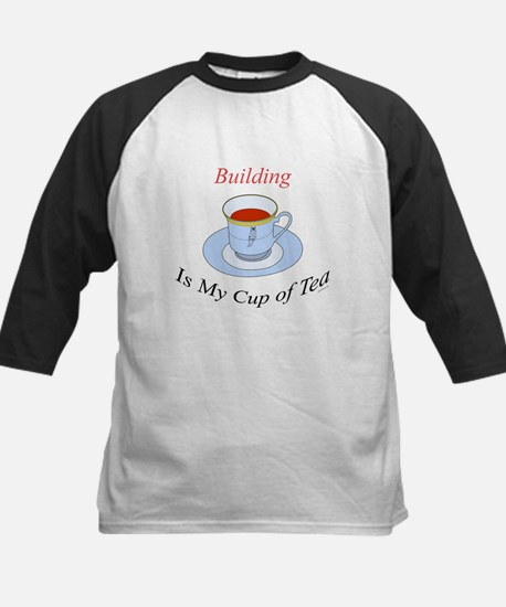 Building is my cup of tea Kids Baseball Jersey