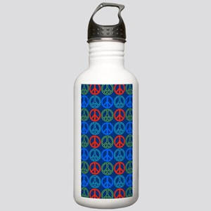 Peace Sign Multi Color Stainless Water Bottle 1.0L