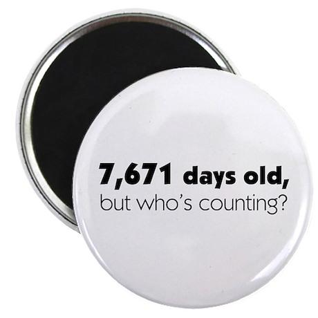 21st Birthday Magnet