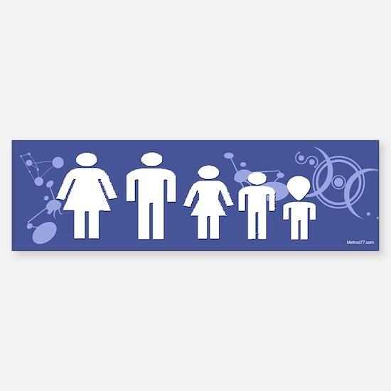 Alien Family Bumper Bumper Bumper Sticker