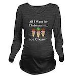 Christmas Ice Cream Long Sleeve Maternity T-Shirt