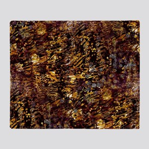 Abstract Glam Jungle Throw Blanket