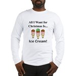 Christmas Ice Cream Long Sleeve T-Shirt
