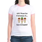 Christmas Ice Cream Jr. Ringer T-Shirt