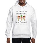 Christmas Ice Cream Hooded Sweatshirt