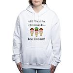 Christmas Ice Cream Women's Hooded Sweatshirt