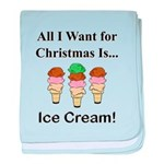 Christmas Ice Cream baby blanket