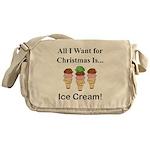Christmas Ice Cream Messenger Bag