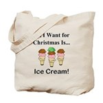 Christmas Ice Cream Tote Bag