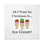 Christmas Ice Cream Queen Duvet