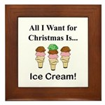 Christmas Ice Cream Framed Tile
