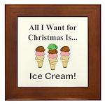 Christmas Ice Cream Framed Tile