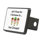 Christmas Ice Cream Rectangular Hitch Cover