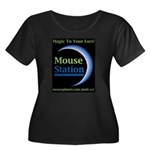MouseStation Women's Plus Size Scoop Neck Dark T-S